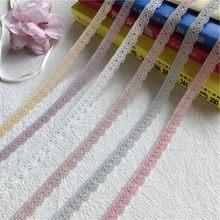 S1387 1 см цветная кружевная лента мороженого, вышитая кружевная ткань, отделка, украшения ручной работы, шитье, ремесла, новейшие Африканские ...