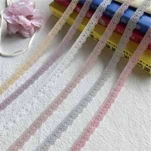 S1387 1cm Ice cream color lace ribbon embroidered lace fabric trim decoration diy handmade sewing crafts latest african lace