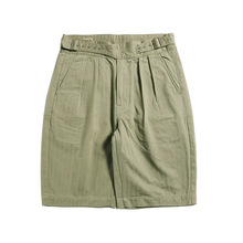 Red Tornado Vintage Style Men Herringbone Gurkha Shorts Knee Length Relaxed Fit