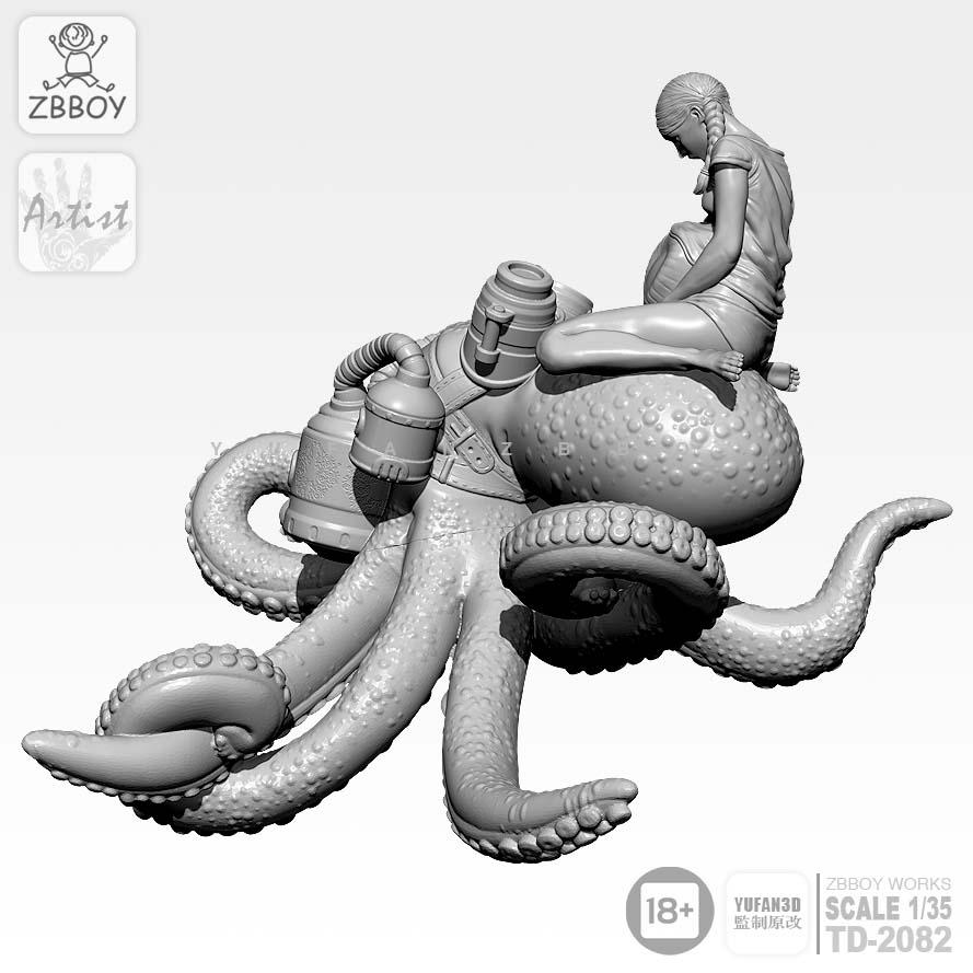 1/35 Resin Kits Octopus bride resin model self-assembled TD-2082