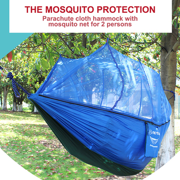 Portable Mosquito Net Hammock Tent Garden Hanging Chair Indoor Outdoor Swing Bed Garden Furniture Parachute Hammock Camping ultralight outdoor camping hunting mosquito net parachute hammock 2 person flyknit hammock garden hammock hanging bed