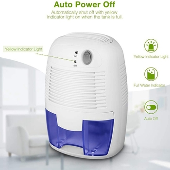 Portable Mini Dehumidifier USB Air Dryer Electric Cooling with 500ML Water Tank for Home Bedroom Kitchen Office Car Absorber mini dehumidifier moisture absorber air dryer electric cooling dryer air purifier for home bedroom kitchen office