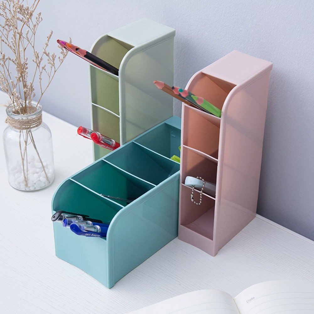 Creative four-grid storage rack can stand office stationery desktop storage box drawer finishing grid oblique insert pen 30O14 (3)