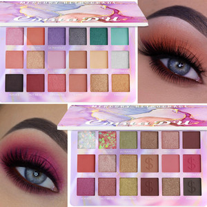 18 Color Eyeshadow Palette Kit Holographic 3D Eye Makeup Matte Waterproof Eye Shadow Pigment Metallic Shiny Cosmetic Gift TSLM2