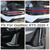 Car Front Rear Fog Lights Cover Tirm Foglight Lamps Protector Frame Accessories Fit For Cadillac XT6 2020 2021 ABS Exterior 1