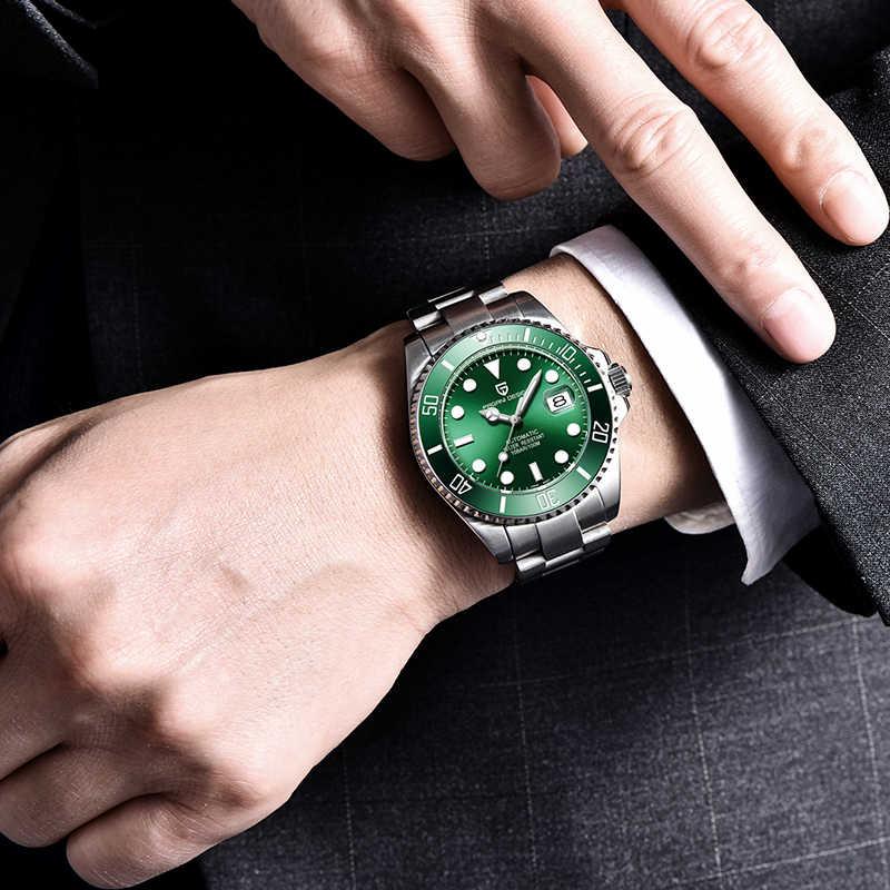 をパガーニデザインの高級ブランド腕時計男性用サファイアステンレス鋼防水腕時計日本 NH35A 運動機械式時計
