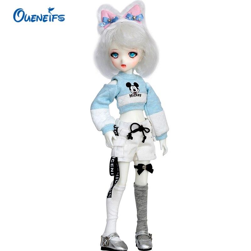 SQ Lab Moe Chibi 1/6 BJD SD Resin Model Baby Girls Boys Dolls Free Eyes High Quality Birthday Gifts Shop Fullset OUENEIFS