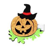 Новинка заколки для волос на Хэллоуин девочек детские с принтом