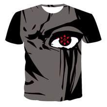 Novo estilo t-camisa masculina respirvel alta qualidade camiseta senhoras manga curta vermelho globo ocular 3d impresso moda