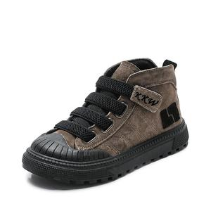 Image 3 - 2019 çocuk botları erkek spor ayakkabı kış yeni peluş sıcak kızlar çizmeler moda çocuk Martin çizmeler hakiki deri okul ayakkabısı