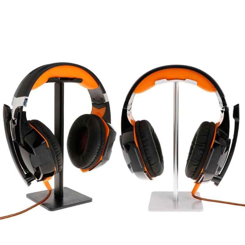 Earphone Aksesoris Headphone Stand Headset Aluminium Pemegang Earbud Hanger Bracket Display Tahan Lama Fleksibel Rak Dropshipping