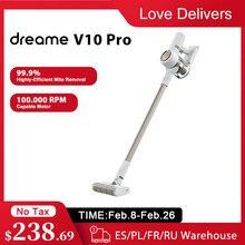 Ручной беспроводной пылесос Dreame V10 Pro, 22 кПа, Мощное всасывание, беспроводной циклонный фильтр, пылесборник для дома