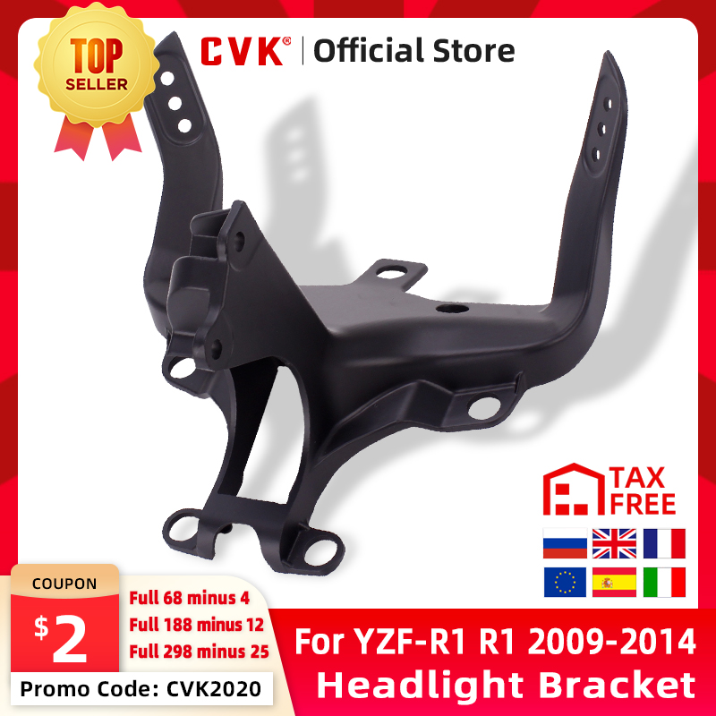 CVK Headlight Bracket Motorcycle Upper Stay Fairing For YAMAHA YZF 1000 R1 2009 2010 2011 2012 2013 2014 YZF-R1 Parts
