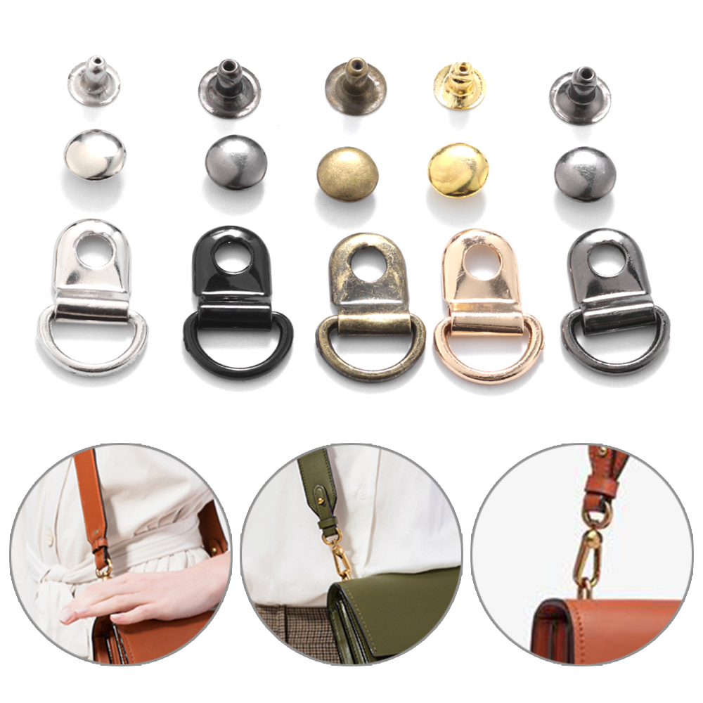 10sets/Bag D Ring Buckle Hiking Climbing Boots Practical Repair Buckles DIY Craft Leather Bags Decorative Accessories Dropship