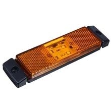 10 Pcs 10V-24V 4 LED Amber Truck Side Marker Lights Rear Position Lamps for Trailer Trucks Van Accessories