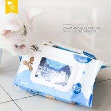 Peg Kitten Pet влажная протирать толщиной 80 насосная кошка собака универсальная Чистка ушные глаза двойное уплотнение дизайн