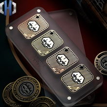 LAUTIE Lucky Poker Coin Texas Holdem Poker Card Crimper Metal Mini Custom Creative Playing Card цена в Москве и Питере