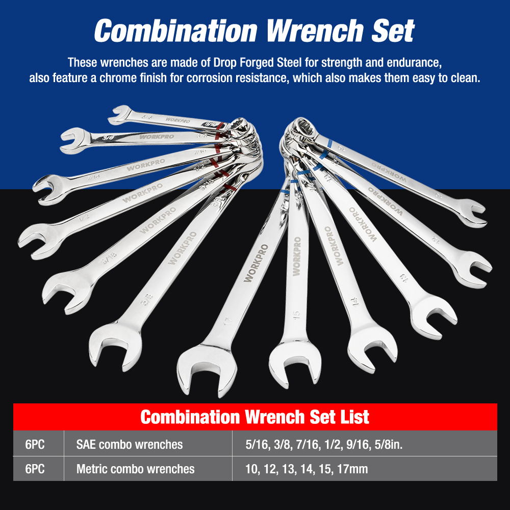 WORKPRO 164PC Tool Set for Car Repair Tools Mechanic Tool Socket Set - Ensembles d'outils - Photo 5