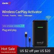 Carlinkit2.0 apple carplay ativador sem fio para audi porsche wv volvo auto sem fio dongle adapte oem fábrica original carplay