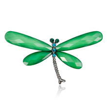 Cross-border For Japan And South Koreas New Stylish Simple Alloy Diamond Dragonfly Brooch Upscale Women Exquisite Joker Pin