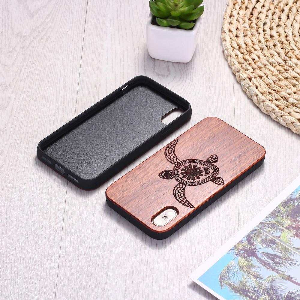 Sea Turtle Wood Phone Case ( iPhone 6, 6S, 6Plus, 7, 7Plus, 8, 8Plus, XR, X, XS Max ,11 Pro Max) 5
