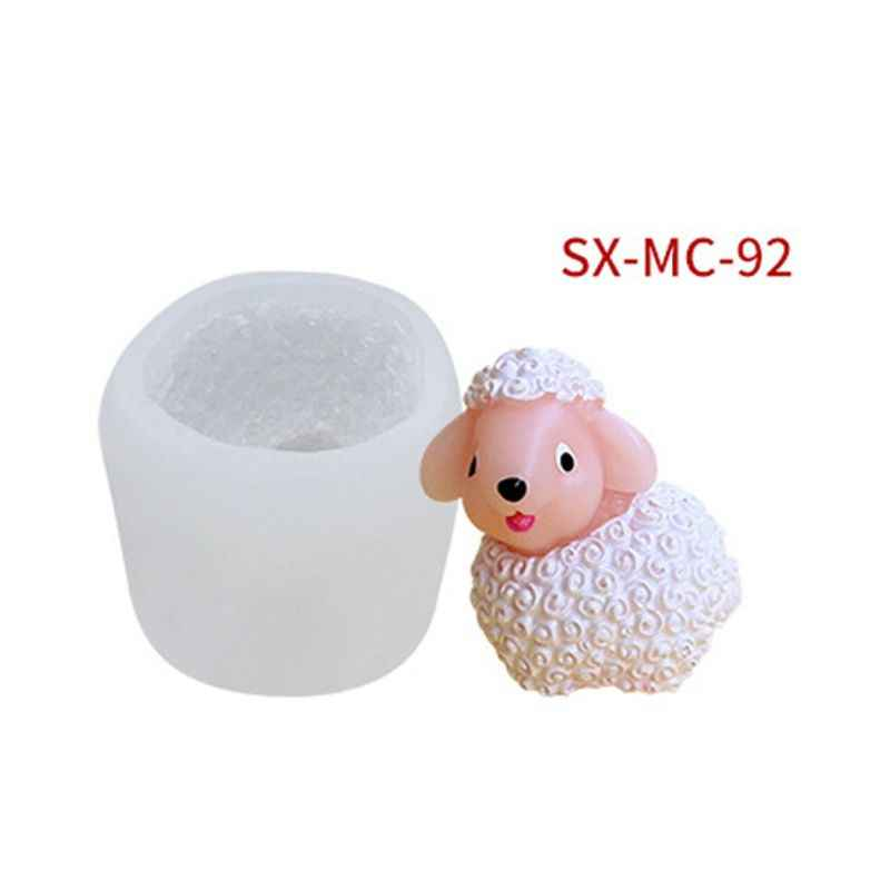 Mydło wyrabiane ręcznie formy 3D owiec wisiorek brelok forma silikonowa do żywicy biżuteria narzędzia
