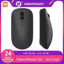 Беспроводная мышь Xiaomi Lite, 2,4 ГГц, 1000 точек/дюйм, эргономичная оптическая портативная компьютерная мышь, легко носить с собой, игровые мыши