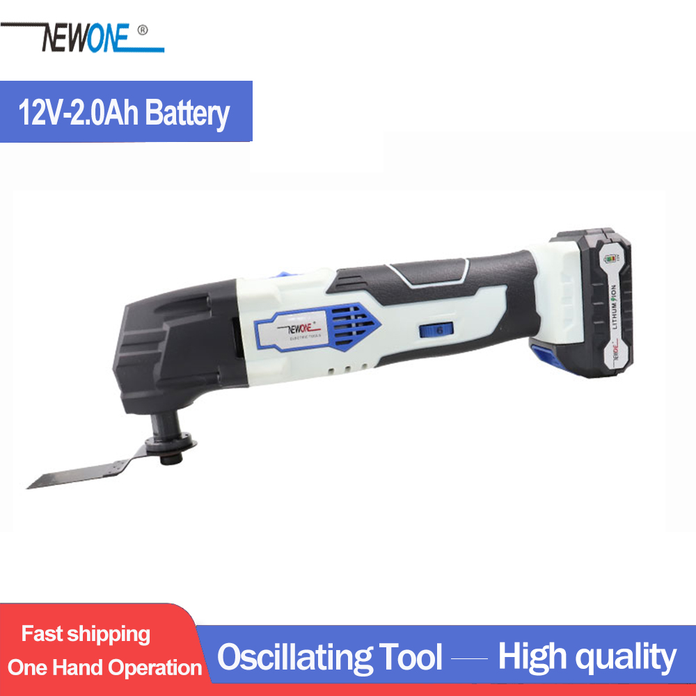 12V Lithium-ion Oscillating Multi Tool Renovator Tools Electric Trimmer Saw With 2 Pcs Of 2000mAh Lithium Battery