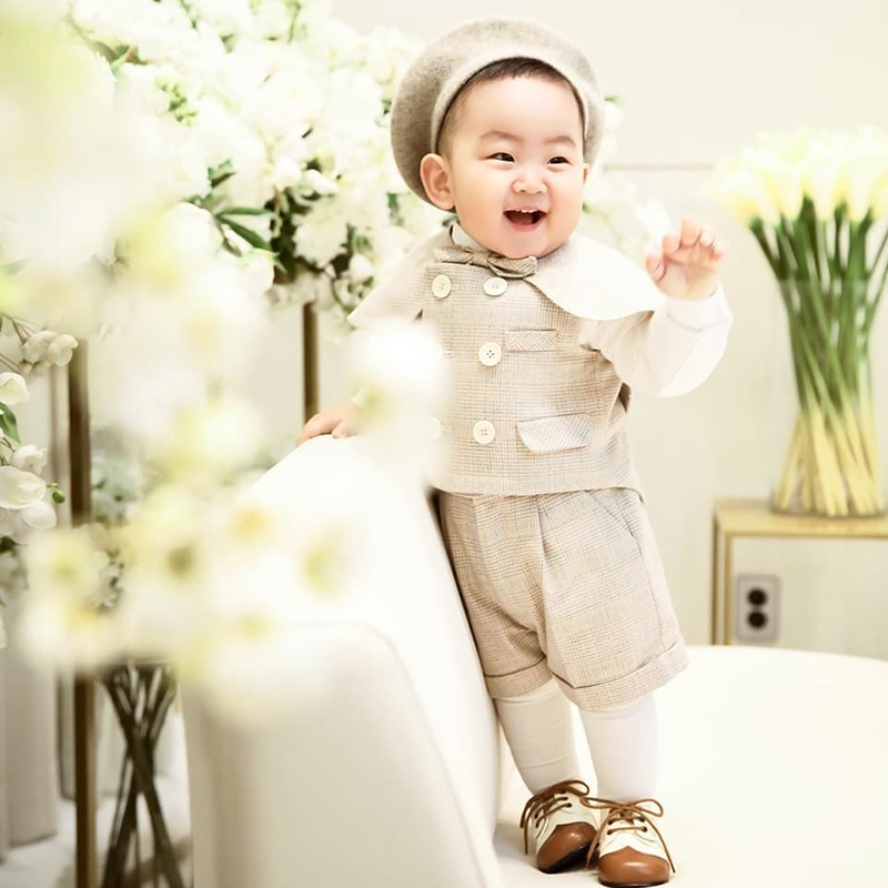Boy Suits Cotton Baby Boys Suits 2021 Double Breasted vest short Shawl 3pcs Suit sets tuxedo Boy Formal Wedding birthday dress 5
