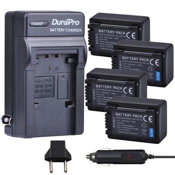 4pc VW-VBT190 VW VBT190 Li-ion Battery+Car Charger for Panasonic HC-V110 HC-V130 HC-V160 HC-V180 HC-V201 HC-V210 HC-V230 HC-V250 фото