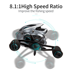 Image 5 - Kawa Fishing Reel New Model Three Aluminum Spools Magnetic Brake Cork Knob Bearing 11+1 Max Drag 8KG Weight 219.5g