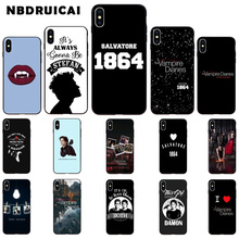 NBDRUICAI The Vampire Diarie TPU Soft Silicone Phone Case Cover for iPhone 11 pro XS MAX 8 7 6 6S Plus X 5 5S SE XR case webbedepp jack skellington silicone soft case for iphone 5 se 5s 6 6s plus 7 8 11 pro x xs max xr