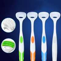 Podwójne boczne opieka stomatologiczna szczotka do czyszczenia jamy ustnej język czyste oddech narzędzie zdrowia