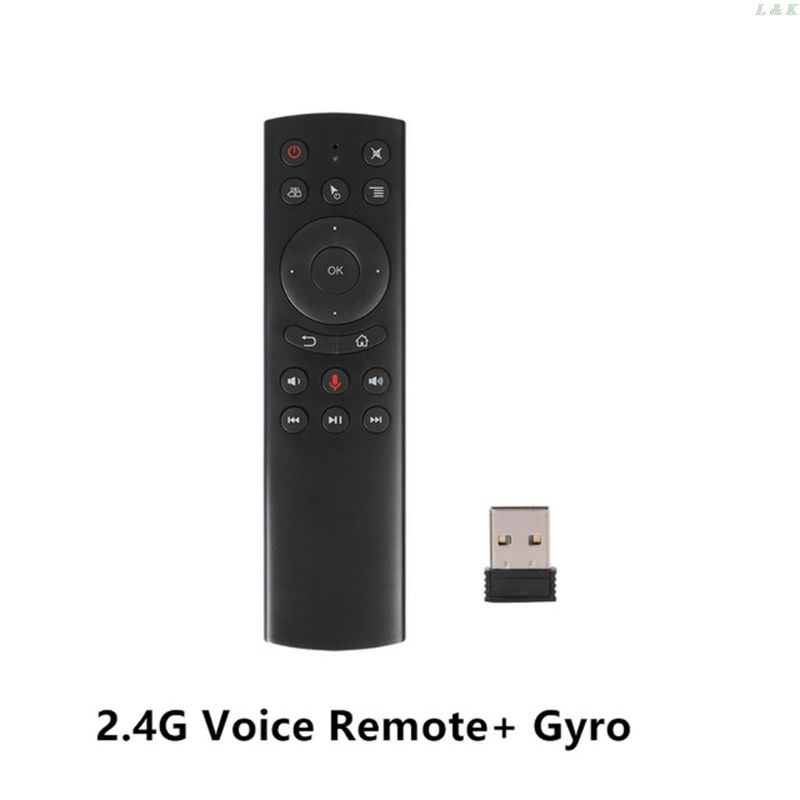 G20S Gyro Smart Voice Remote Control IR Learning 2.4G Wireless Fly Air Mouse 667C image