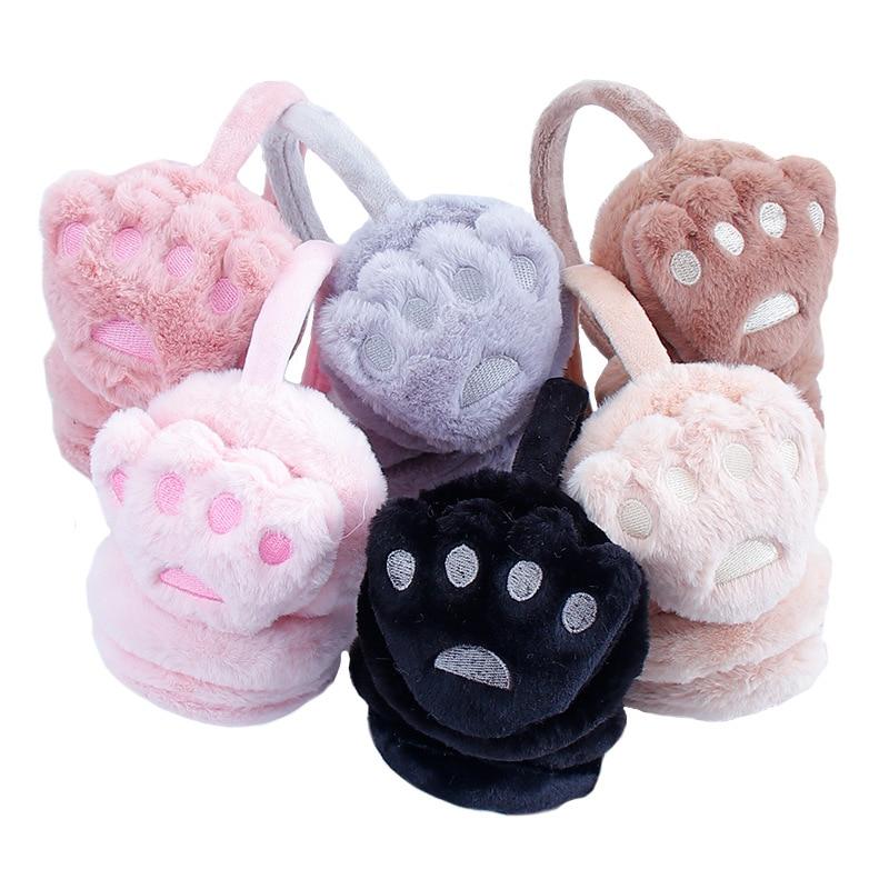 Winter Autumn Warm Earmuffs Cute Ear Earmuff Plush Earmuffs For Girls Ladies Women Headbands