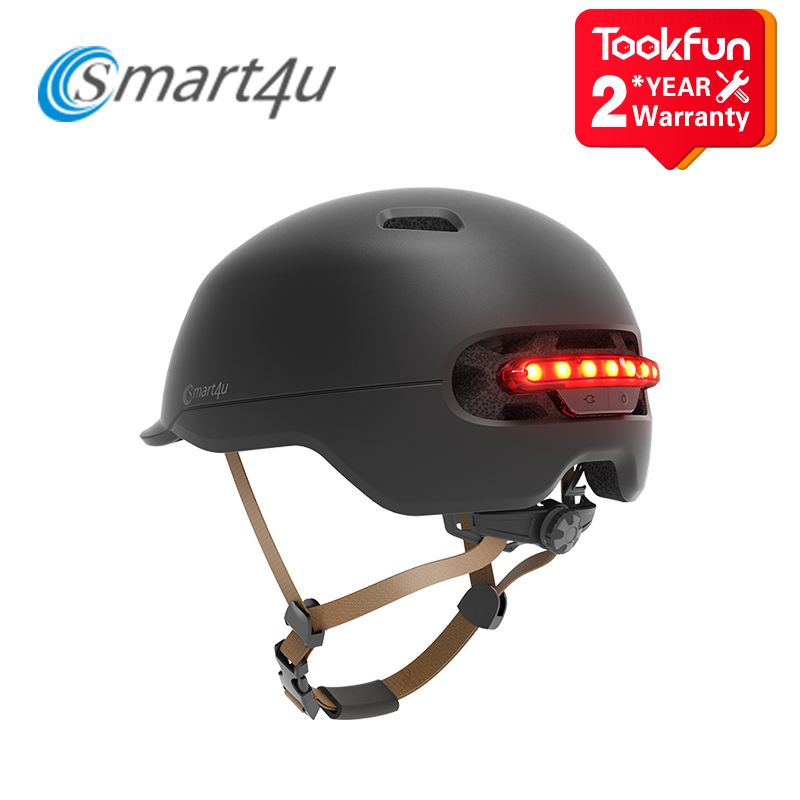 Новинка, велосипедный шлем Xiaomi Smart 4U, интеллектуальная светодиодная подсветка, ультралегкий дорожный велосипед для езды на открытом воздух...