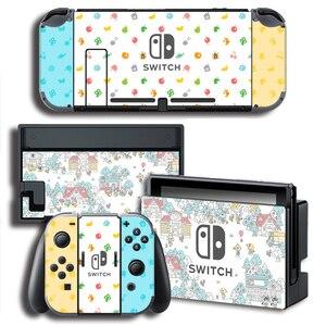Image 2 - עור כיסוי מדבקה לעטוף עבור Animal Crossing מדבקות w/קונסולה + שמחה קון + טלוויזיה Dock עורות עבור nintendo מתג עור צרור