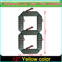 12 Yellow Color Digita Numbers Module LED Display Signs Advertising Board 7 Segment Of the Modules