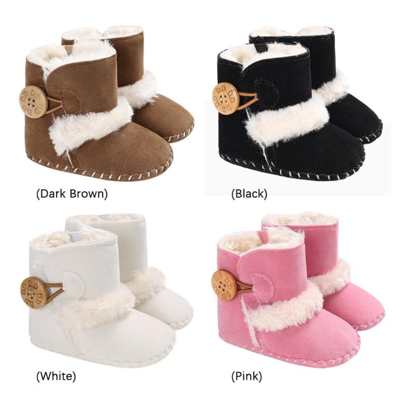 Winter Toddlers Baby Snow Boots Newborn Girl Boy Warm Fleece Mid-Calf Shoes Baby Winter Boots Shoes New Year Gifts For Girls