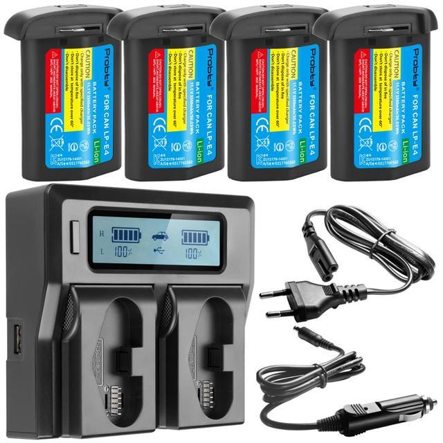 3300mAH LP E4 LP E4 LP E4N Batterie Per Foto/Videocamera O LCD caricabatterie Rapido PER Canon EOS 1D Mark III,EOS 1D Mark IV,EOS 1Ds Mark III