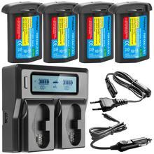 3300mAH LP E4 LP E4 LP E4N batterie dappareil photo ou LCD chargeur rapide pour Canon EOS 1D Mark III, marque de EOS 1D IV, marque EOS 1Ds III