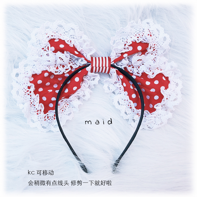 Kawaii черно красная клубника KC Super MENG супер красивая лолита повязки для волос с бантиками Великолепная клубника пасторальный Косплей