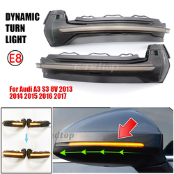 Dynamic Blinker Mirror Light For Audi A3 8V S3 RS3 2013-2018 LED Turn Signal Side Indicator Lamp Car Accessories