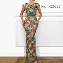 Evening-Dresses De-Noche-Robe Sequin Arabic Lace Mermaid Soiree-Plus Luxury V-Neck Vestidos-De-Fiesta