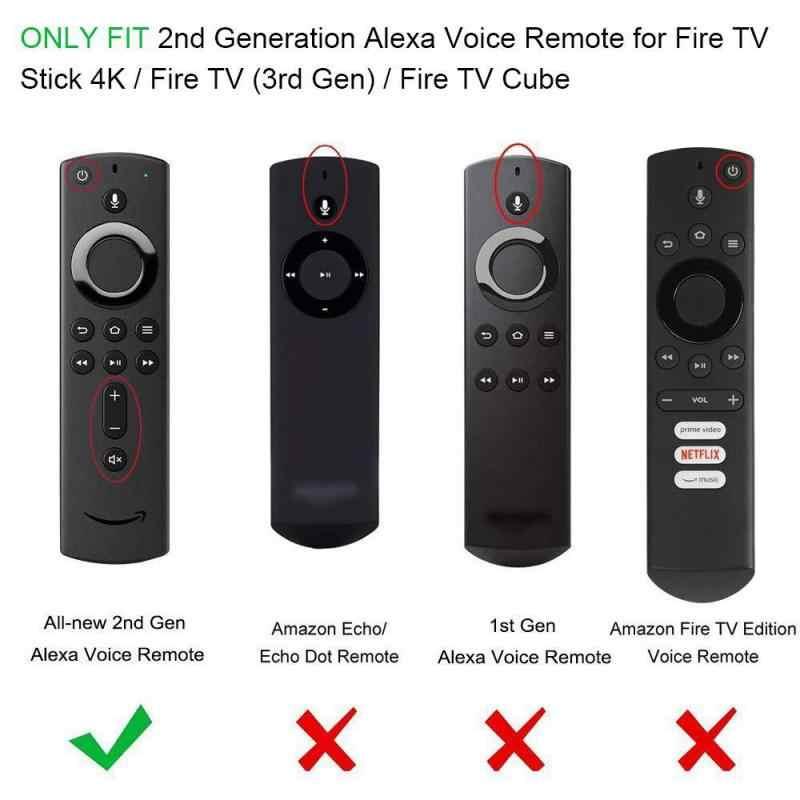 Custodia in Silicone morbido per Amazon Fire TV Stick telecomando vocale custodia protettiva in Silicone antiurto TSLM1