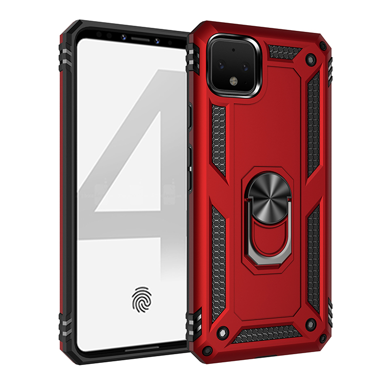Armor Bumper Phone Case For Samsung Galaxy Note 8 9 10 S7 S8 S9 S10 S10E Plus Pro 5G Car Ring Stand Holder Protective Back Cover