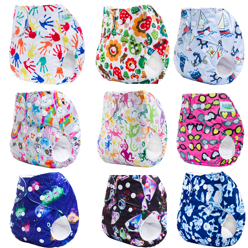 New Reusable Waterproof Digitally Printed Adjustable Baby Diaper Pants Suitable For 3-15 Kg