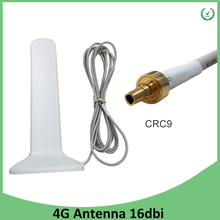 3G 4G LTE Antenna CRC9 Male Connector 16dBi with 2m Extension Cable 3G external antena for 4G Modem Router antenne arieal 3g 4g lte patch antenna 3dbi 3meters extension cable crc9 male right angle connector