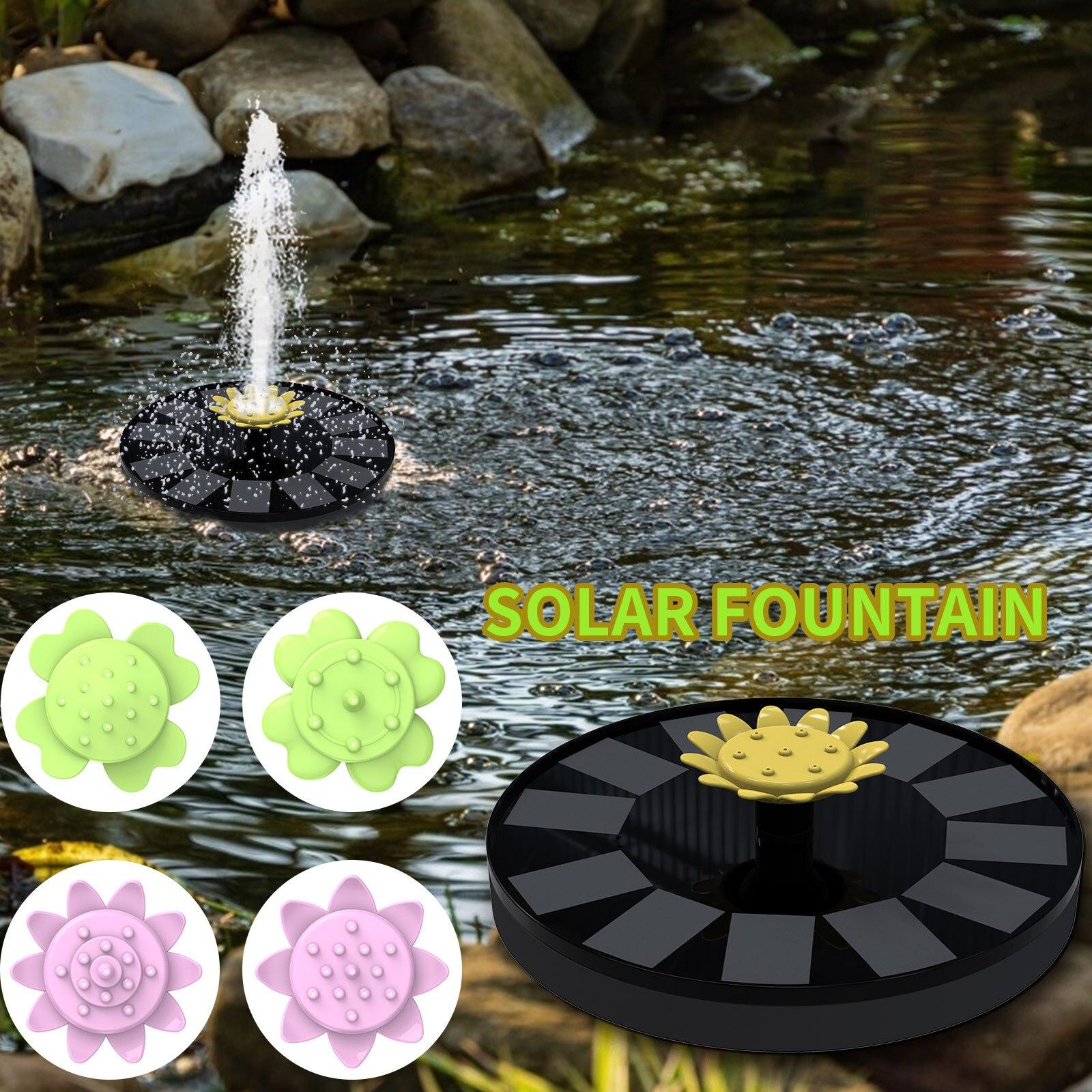 Солнечный фонтан, усовершенствованный солнечный фонтан с листьями, умный маленький водяной фонтан на солнечной батарее, фонтан #9