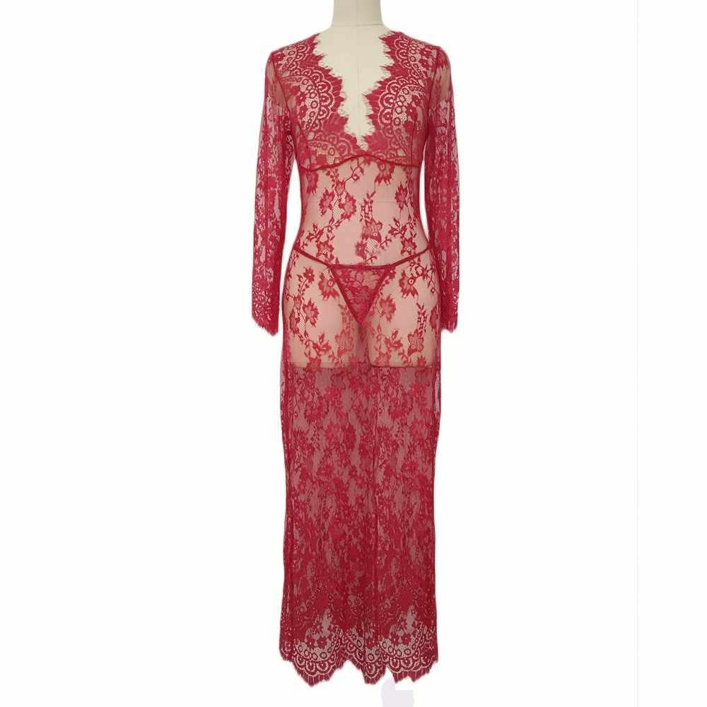 TELOTUNY 2020 kadın iç çamaşırı uzun elbise kıyafeti seksi bayan iç çamaşırı dantel gecelik gecelik Vintage pijama kadın L212